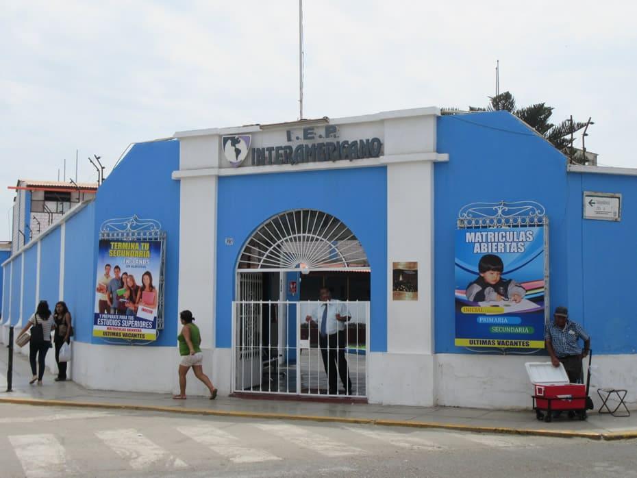 Fachada Colegio Interamericana Centro Trujillo