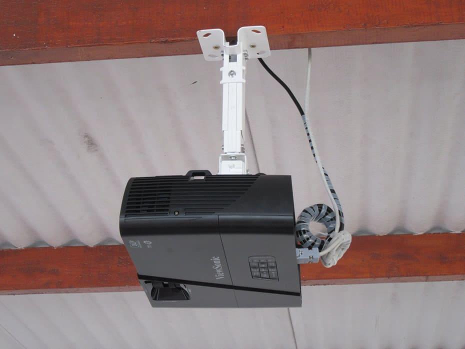 Proyecto instalado toma fotográfica lateral, vista del panel de control