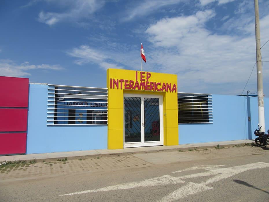 Fachada Colegio Interamericana Covicorti, Trujillo, Peru