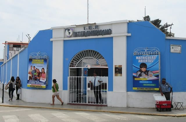 Fachada Colegio Interamericano de Centro de Trujillo