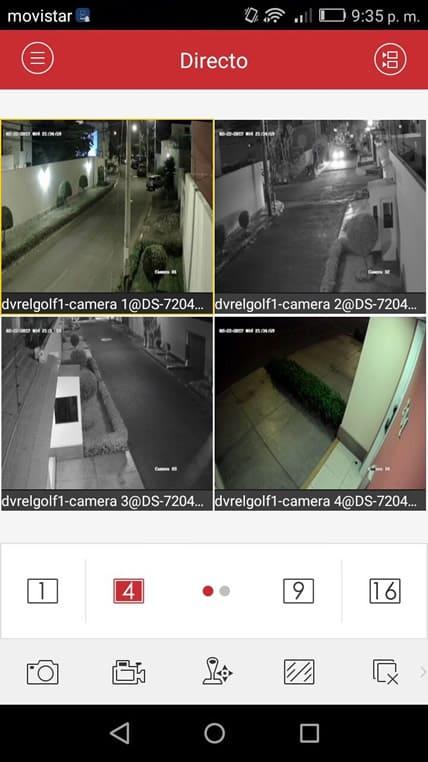 Visualización de cámaras de Smartphone