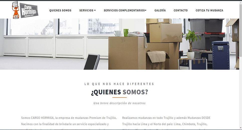 Pagina web Cargo Hormiga, Trujillo, Peru
