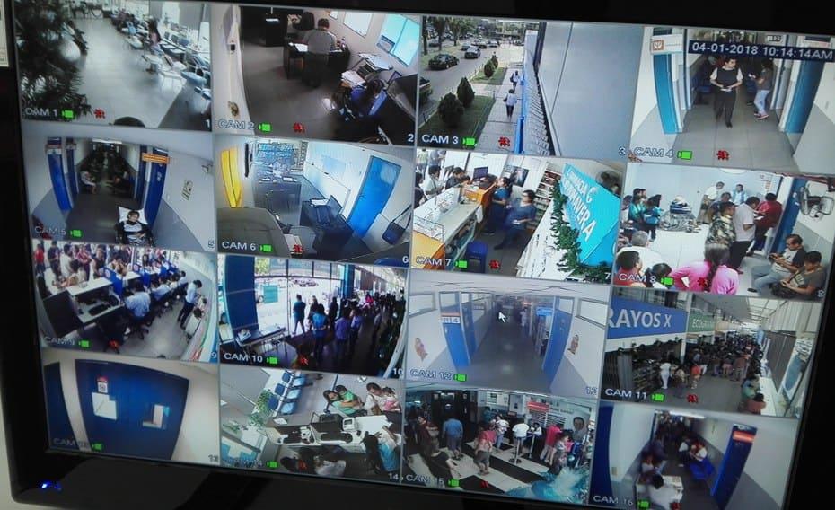 Monitoreo y revision de camaras de seguridad en el Hospital Primavera Trujillo
